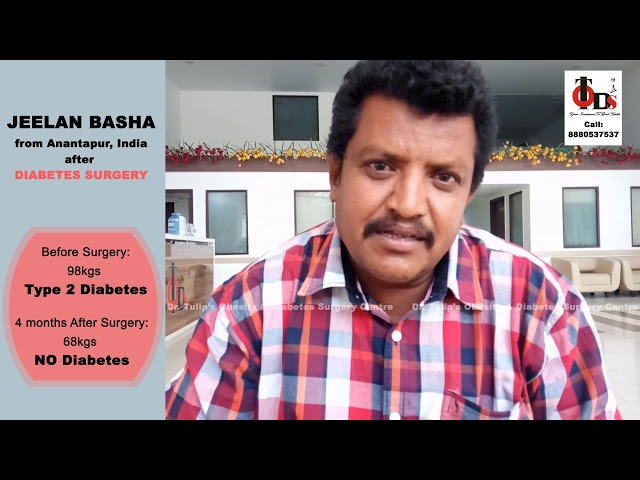 TODS India - Jeelan Basha - Diabetes Surgery Testimonial