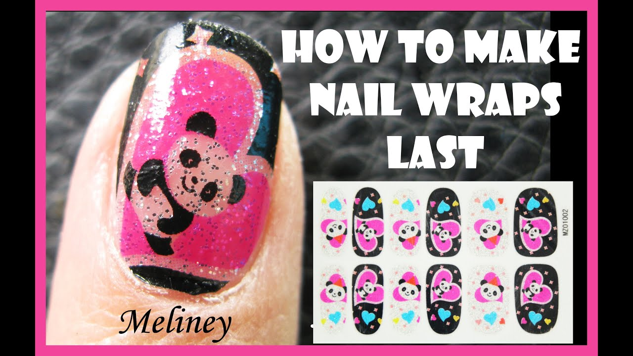 How to make nail wraps last longer full cover panda nail art how to make nail wraps last longer full cover panda nail art sticker design tutorial for short nails youtube prinsesfo Gallery
