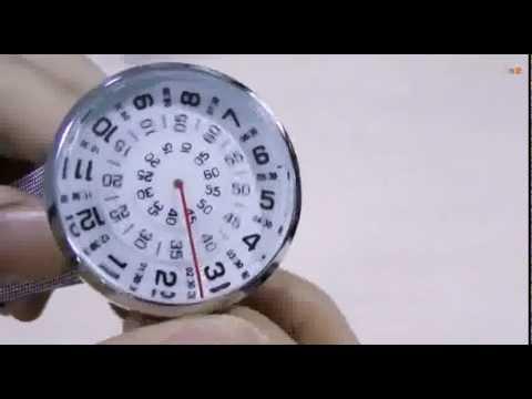 Часы с крутящимся циферблатом