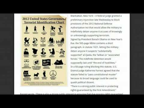 US Judge blocks Obama`s Facist NDAA Indefinite Detention Law ∞ declared unconstitutional Ron Paul