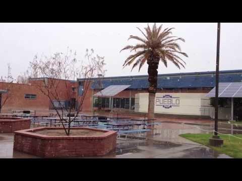 Snow Falling At Pueblo High School 2013