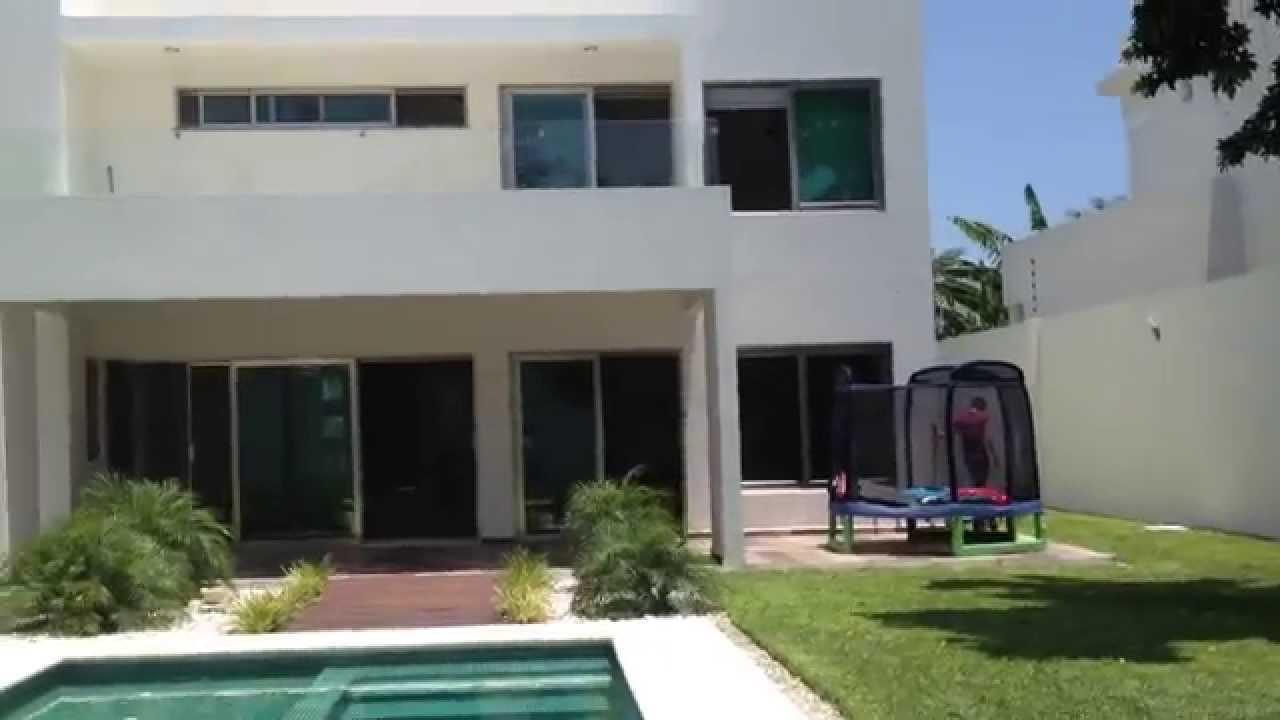 Casa en venta campestre minimalista canc n youtube for Renta casa minimalista cancun