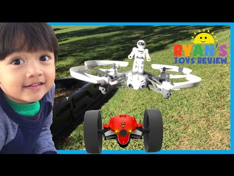 Parrot Mini Drone Airborne Mars and Max Jumping Race Drone Kids Video Ryan ToysReview
