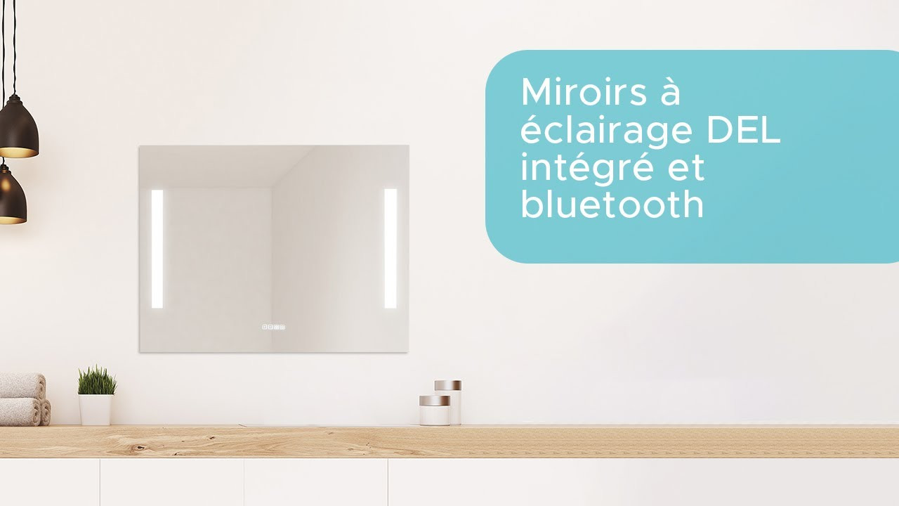 bain dpt miroir de salle de bain clairage intgr et bluetooth with miroir salle de bain musique. Black Bedroom Furniture Sets. Home Design Ideas