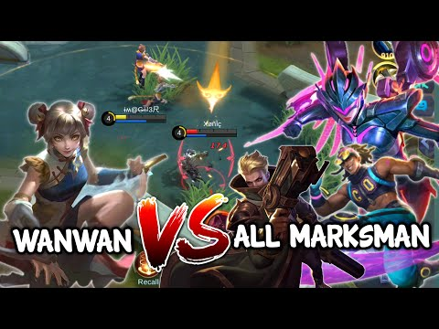 WANWAN VS All MARKSMAN | Part - 1 | Mobile Legends Bang Bang