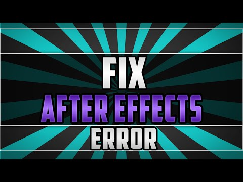 Fix Adobe After Effects error: can't get Unicode file (83 :: 2)