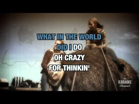 """Crazy In The Style Of """"Patsy Cline"""" With Lyrics (no Lead Vocal)"""
