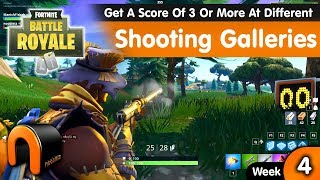Fortnite Get A Score Of 3 Or More At Different Shooting Galleries - Week 4 Challenge