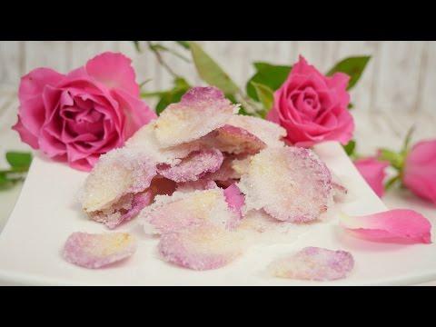 Kandierte Rosenblüten I Blüten Kandieren I Essbare Blumen-Deko