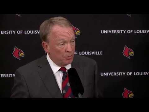 LIVE: University of Louisville presser on FBI investigation at 1pm