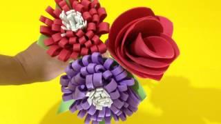 Como Fazer Flores Fáceis com EVA – DIY Artesanato