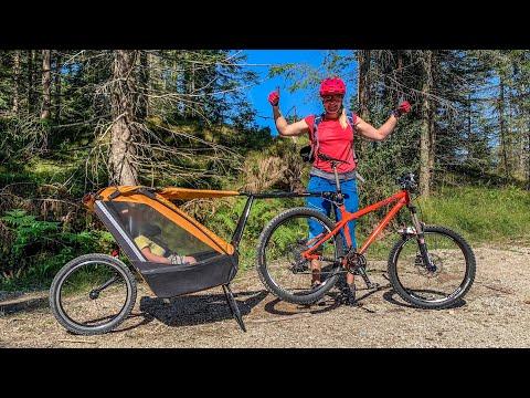 tout-terrain:-singletrailer-kinderanhänger---mountainbike-touren-mit-familie-/-baby-/-kleinkind