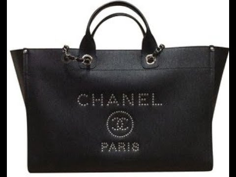 d74a0b6e316b Chanelbags Chanel 2018 Black Leather Deauville Tote review - YouTube