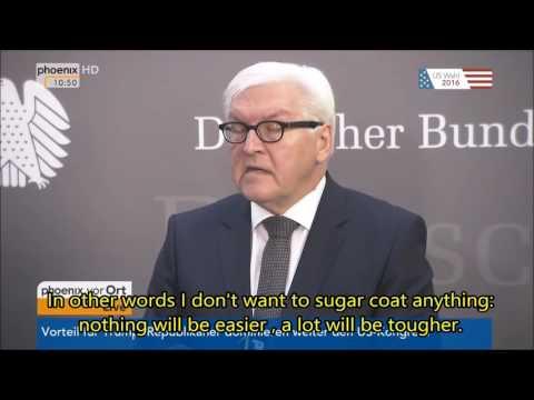 Steinmeier reacts to Donald Trump as elected President (english subtitles)