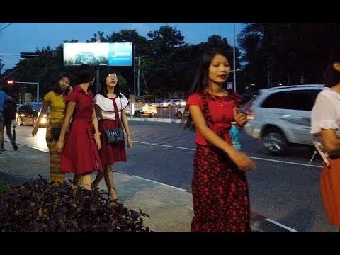 Nightlife In Myanmar, Couple's Date In A Park VS Nightclub
