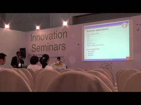 In-Cosmetics Bangkok, Technical Seminar on Kopcinol.
