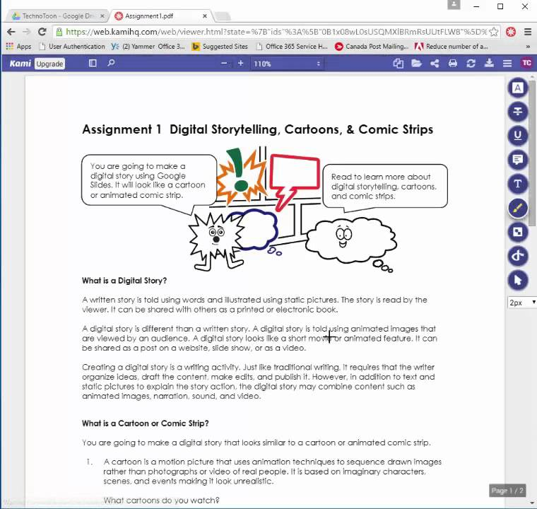 Add Notes to PDF using Kami Chrome Extension, TechnoKids Computer  Curriculum for Chromebooks