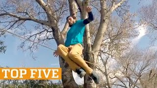 TOP FIVE: Flatland BMX, Slackline & Cardistry | PEOPLE ARE AWESOME 2017