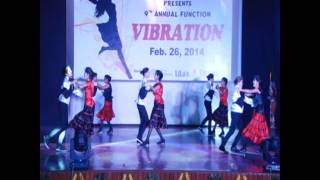 Biyani Girls College Annual Function-2014 on Salsa Dance