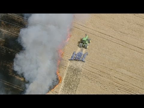 Fire in Weld County field