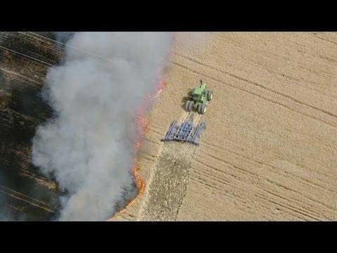Fire in Weld County field