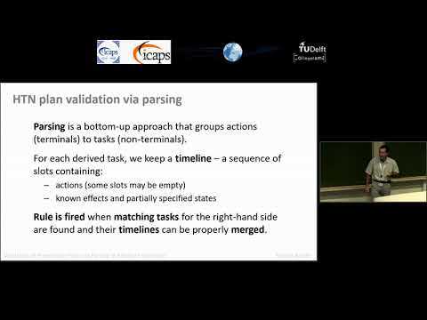 "ICAPS 2018: Roman Bartak on ""Validation of Hierarchical Plans via Parsing of Attribute Grammars"""