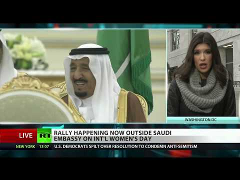 CodePink protests Saudi brutality on Women's Day