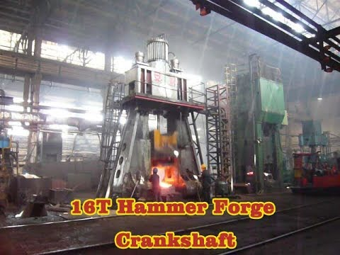 Construction Machinery crankshaft forged on anyang 16 ton hydraulic forging hammer