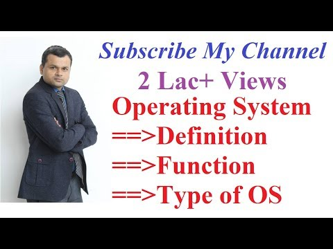 Operating System: Definition, Objective , Function and Types