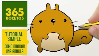 COMO DIBUJAR UNA ARDILLA KAWAII PASO A PASO - Dibujos kawaii faciles - How to draw a squirrel
