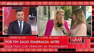 Esmeralda Mitre le respondió sin filtro a Analía Franchín sobre el cruce que tuvieron en Pasapalabra