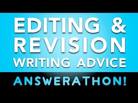 Editing & Revision Answerathon! ★ Writing Advice