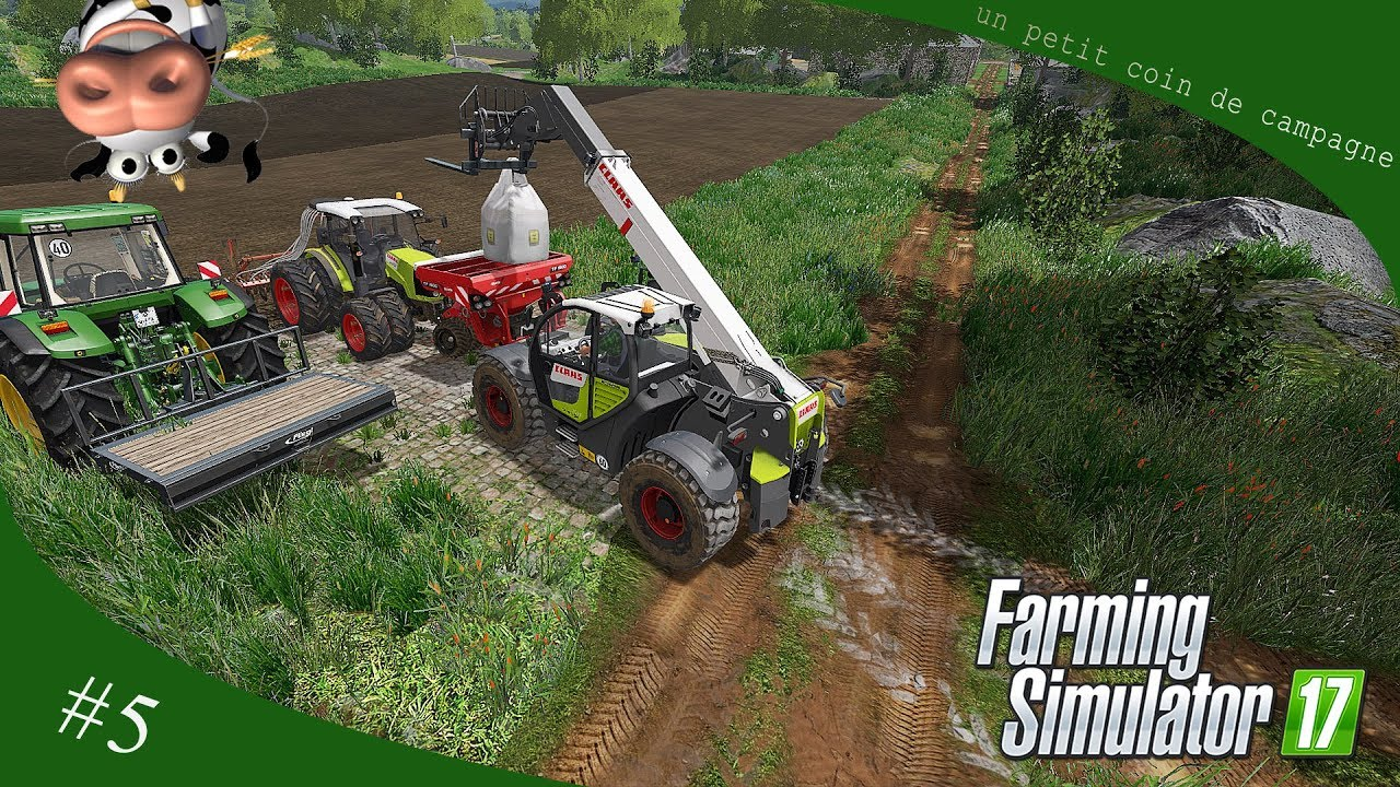 farming simulator 17 un petit coin de campagne 5 semi youtube. Black Bedroom Furniture Sets. Home Design Ideas