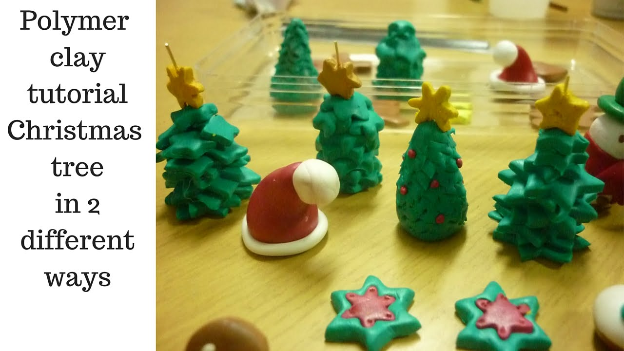 Polymer clay tutorial christmas tree in different ways