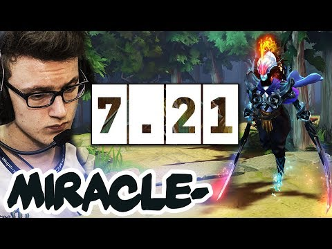 Miracle- FIRST GAME ON NEW 7.21 Patch - PA = STILL BROKEN?! Dota 2 Gameplay thumbnail