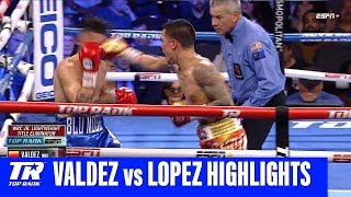 Oscar Valdez Gets Off Deck to Knock Out Adam Lopez | Fight Highlights
