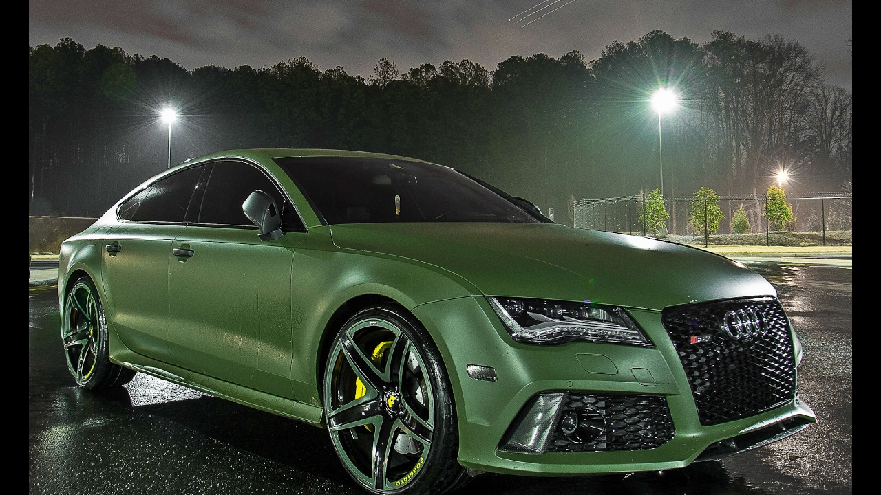 "Audi S6 0 60 >> M-Deezy Visions : Matte Green Audi RS7 on 22"" Forgiato F2 ..."