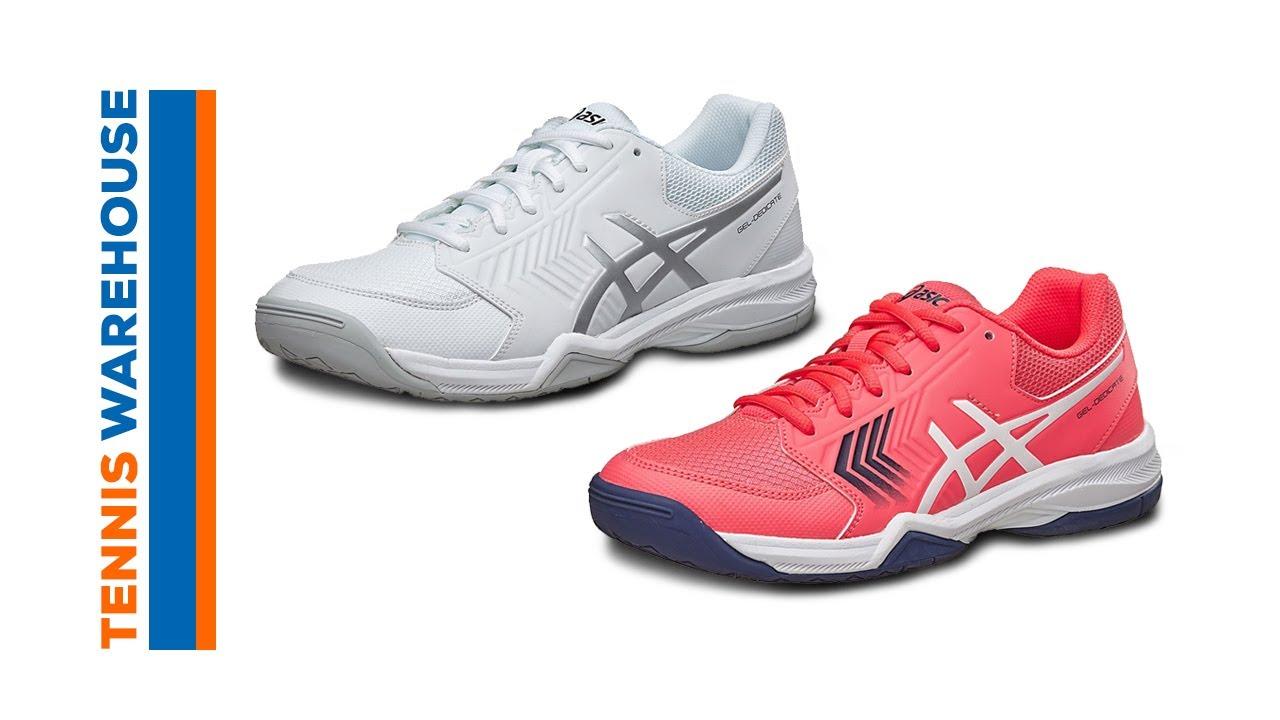 b5a1eac9e335 Asics Gel Dedicate 5 Tennis Shoes - YouTube