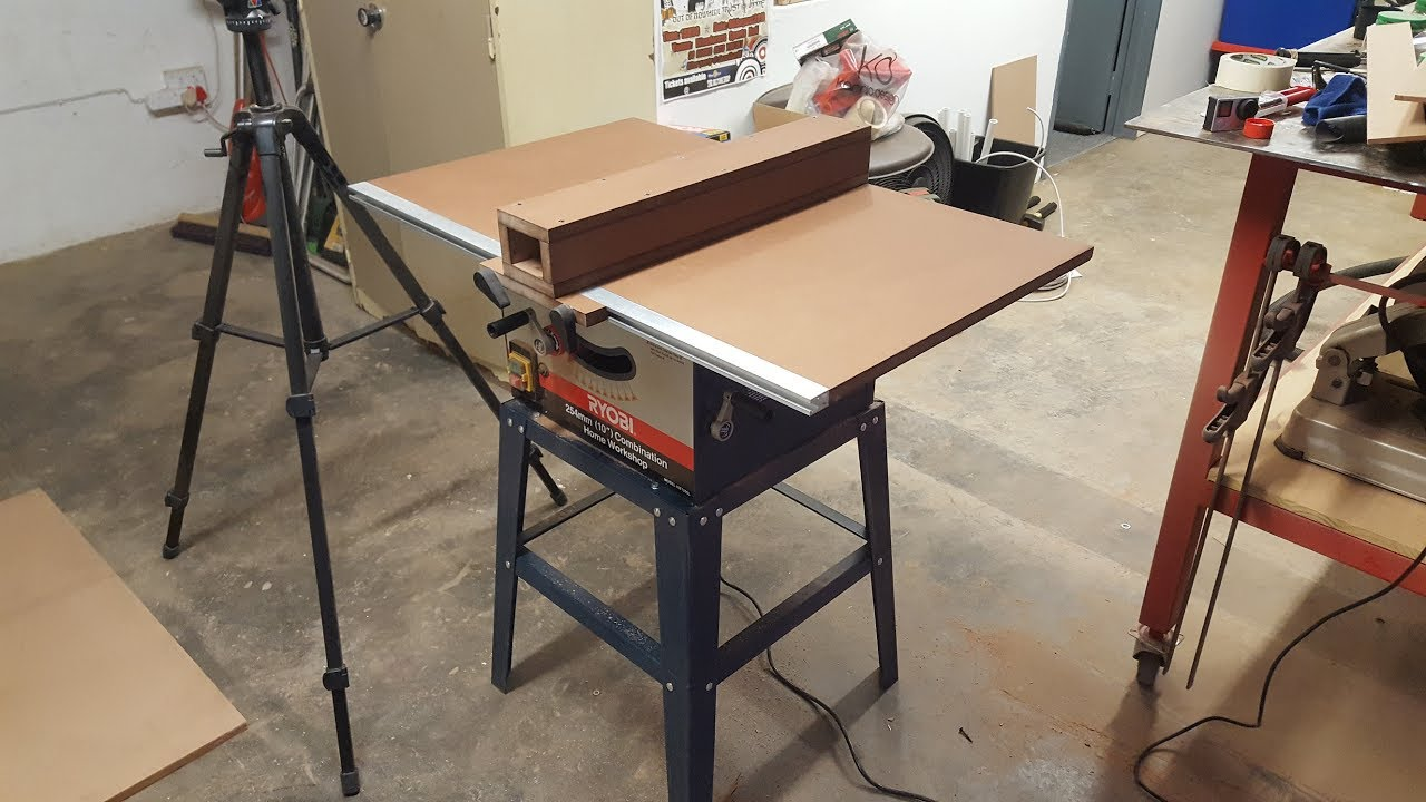 Cheap Table Saw Improvements Part 1  YouTube