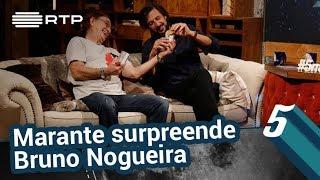 Marante surpreende Bruno Nogueira | 5 Para a Meia-Noite | RTP