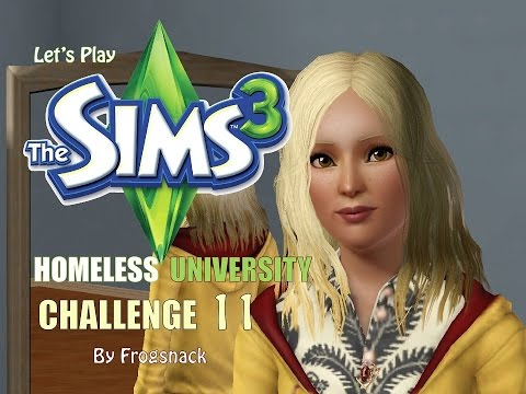 Sims 3 Let's Play Homeless University Challenge Ep 11 Stroke of Midnight