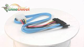 SAS 29-pin to SATA Power Adapter Cable 1.6ft  from Dinodirect.com