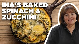 Ina Garten's Baked Spinach and Zucchini | Barefoot Contessa | Food Network