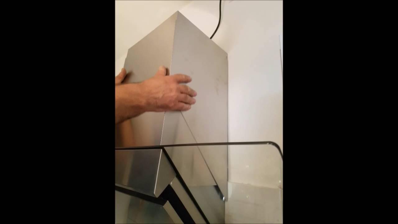 Klarstein Zola Cappa Aspirante Cucina Acciaio Inox e vetro - YouTube