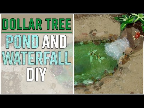 Dollar Tree Outdoor Fairy Garden Pond with Waterfall - Movable and Reusable