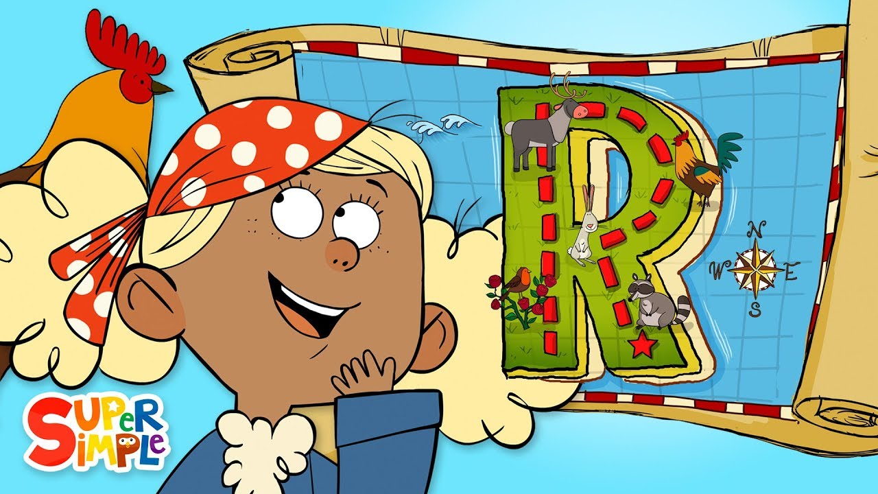 Captain Seasalt and the ABC Pirates Race to Find Treasure on R Island
