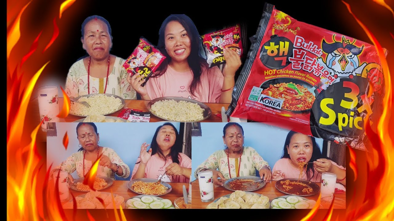 Download Korean 3X Spicy Ramen Noodles challenge with mommy. Extreme spicy. Eating competition