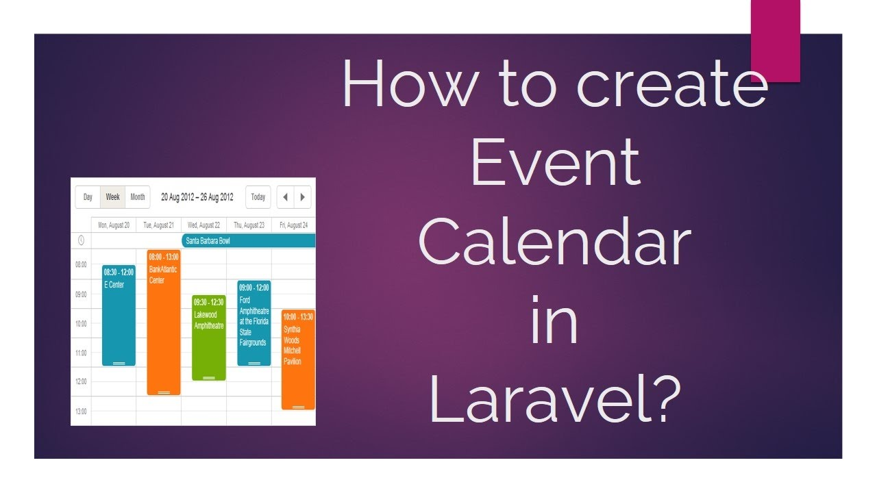 How to create an Event Calendar in Laravel?