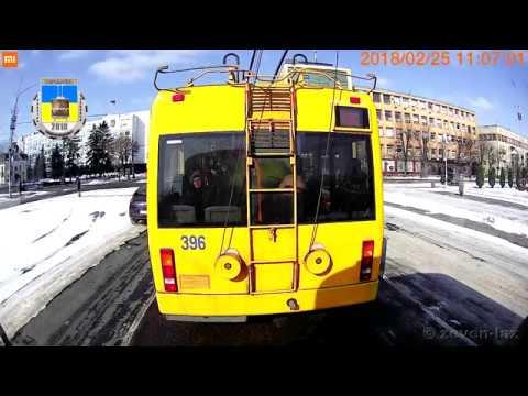 Черкасский троллейбус- Февраль 2018