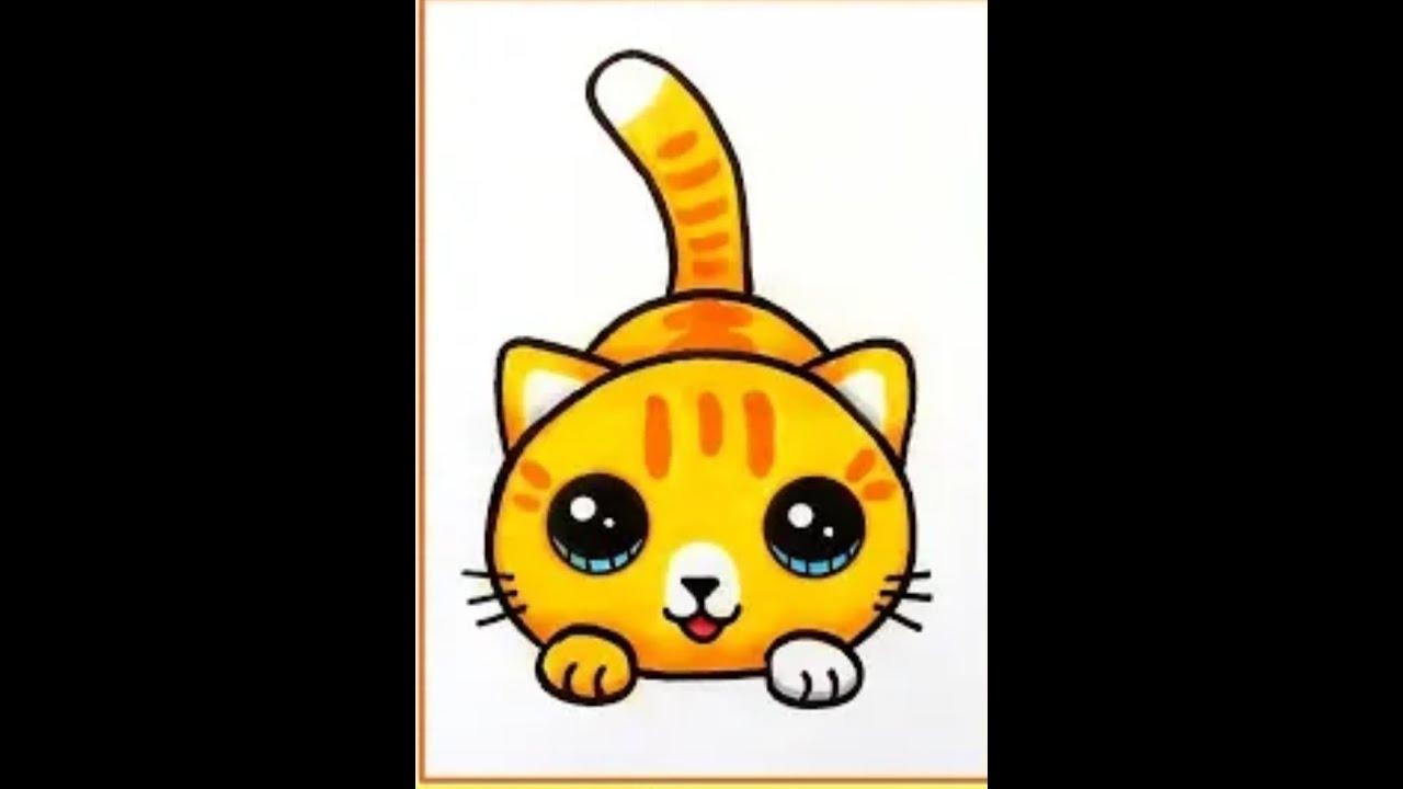 رسم قطة بأسهل طريقة للمبتدئينhow to draw a cat for